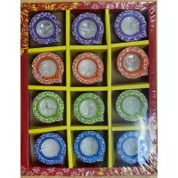 Decorative Wax Diya Set of 12 Pcs