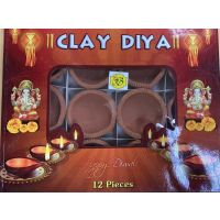 Clay Diya Set - 12 pcs