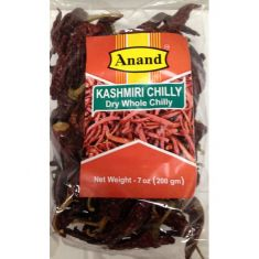 Kashmiri Dry Whole Red Chilli (Anand) - 200 GM