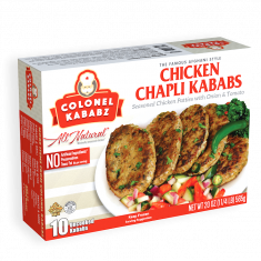 Frozen Chicken Chapli Kabab  (Colonel Kababz) - 545 GM
