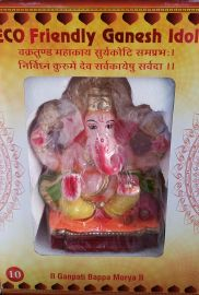10 Inch Ganesha Idol CLAY (Painted) Eco Friendly