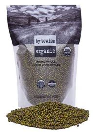 Organic Green Whole Moong (Bytewise) - 2 LB