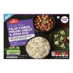 Meal Combo - Palak Paneer, Punjabi Choley and Jeera Rice (Haldiram) - 340 GM
