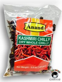 Kashmiri Dry Whole Red Chilli (Anand) - 100 GM