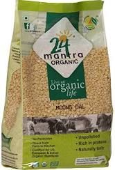 Moong Dal Washed Organic Yellow (24 Mantra) - 2 LB