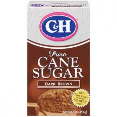 C&H Pure Cane Sugar Dark Brown - 1 LB