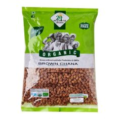 Brown Chana Organic (Kala Chana) (24 Mantra) - 2 LB