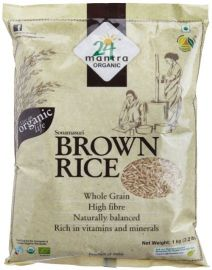 Sona Masuri Brown Rice Organic (24 Mantra) - 2.2 LB