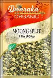 Organic Green Moong Chilka Split With Skin (Dwaraka) - 2 LB