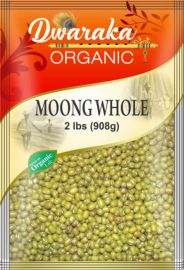 Organic Whole Moong Green (Dwaraka) - 2 LB