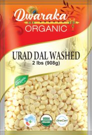 Organic Washed Split Urad Dal White (Dwaraka) - 2 LB