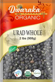 Organic Whole Urad Black Dal (Dwaraka) - 2 LB