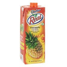 Real Pineapple Fruit Nectar Juice (Dabur) - 1 LTR