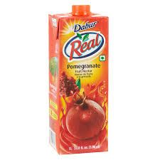 Real Pomegranate Fruit Nectar Juice (Dabur) - 1 LTR
