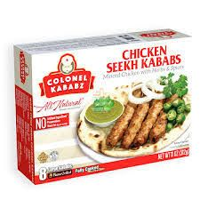 Frozen Chicken Seekh Kabab (Fully Cooked)  (Colonel Kababz) - 312 GM