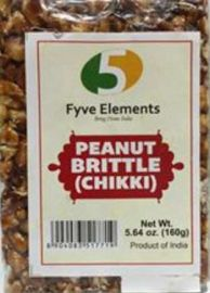 Peanut Jaggery Chikki (Fyve Elements) - 160 GM