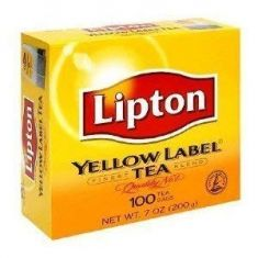 Yellow Tea Bags (Lipton) - 100 Packets