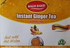 Ginger Instant Tea Premix Unsweetened (Wagh Bakri) - 10 Sachets